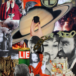 Saturn rotates around the Black Cube. The sun sets behind the coffin of the world.